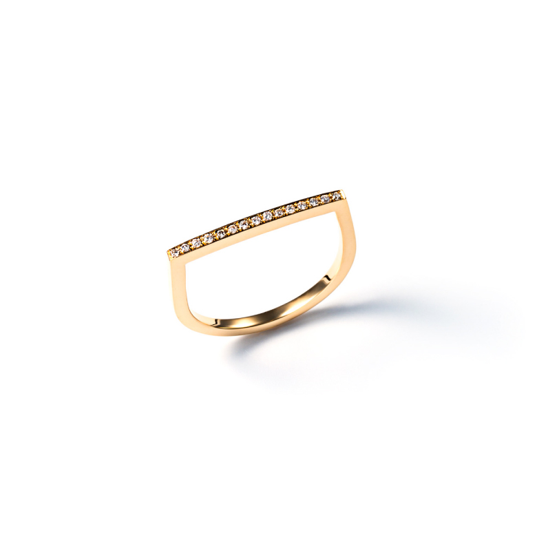 MATERIAL : K18 Gold Orderly line ring / Diamond