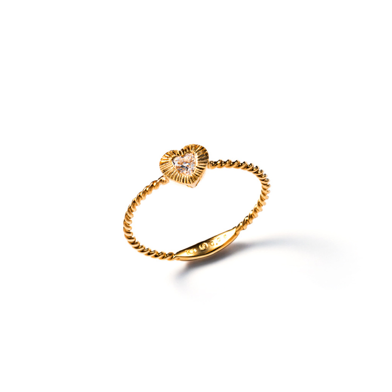 MATERIAL : K18 Gold Le vent ring / Heart