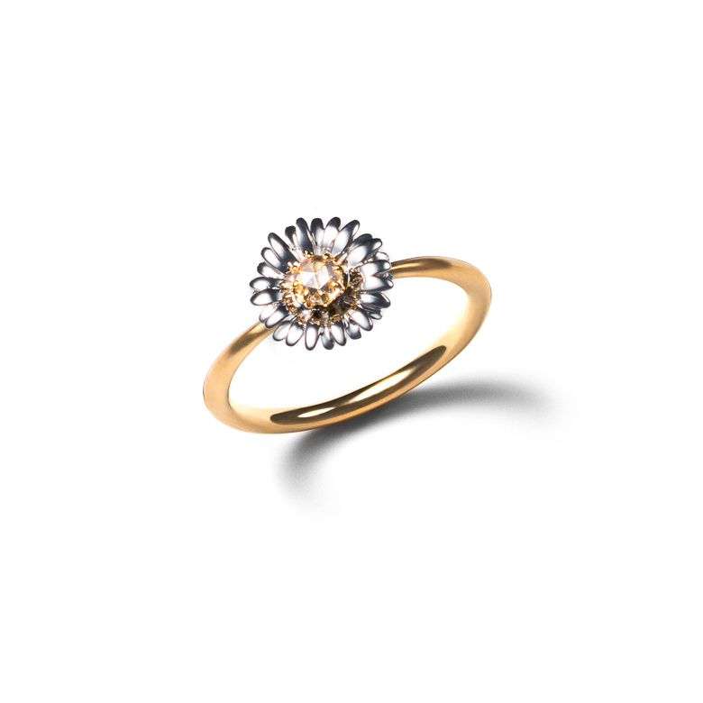MATERIAL : K18Gold Daisy Ring / Rose Diamond