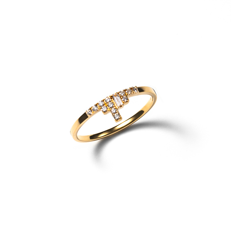 MATERIAL : K18Gold Cascade Ring / Diamond