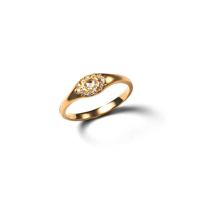 MATERIAL : K18Gold Fountain Ring / Rose Diamond